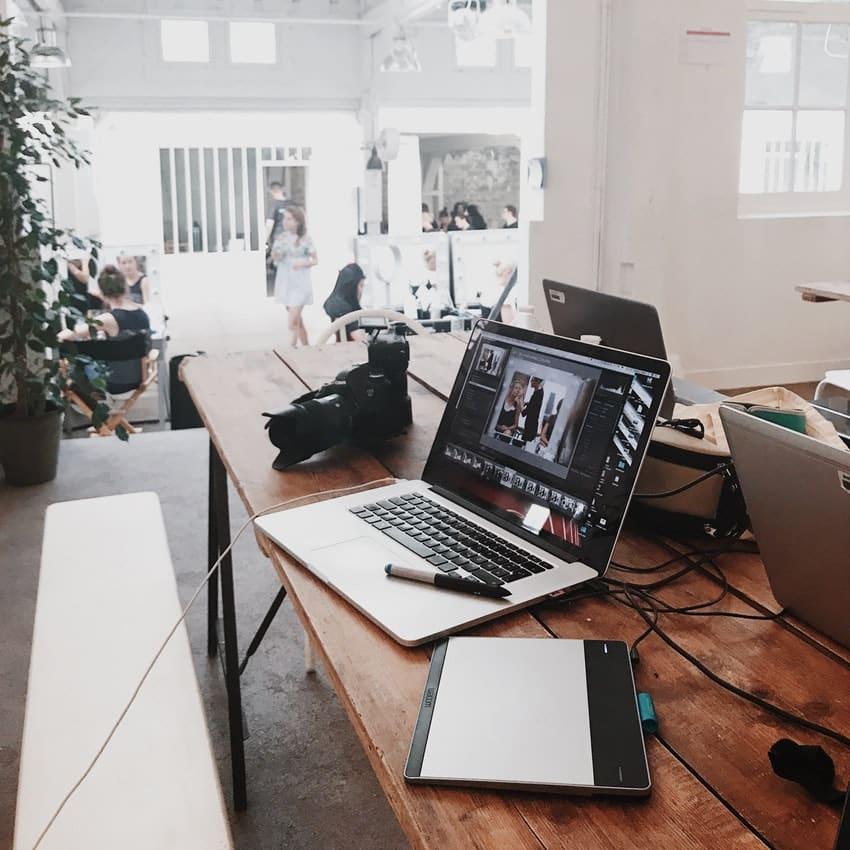 Arbejdsplads med content marketing